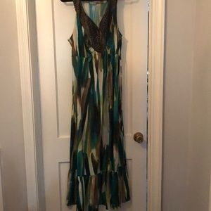 NY Collection multicolored sleeveless dress